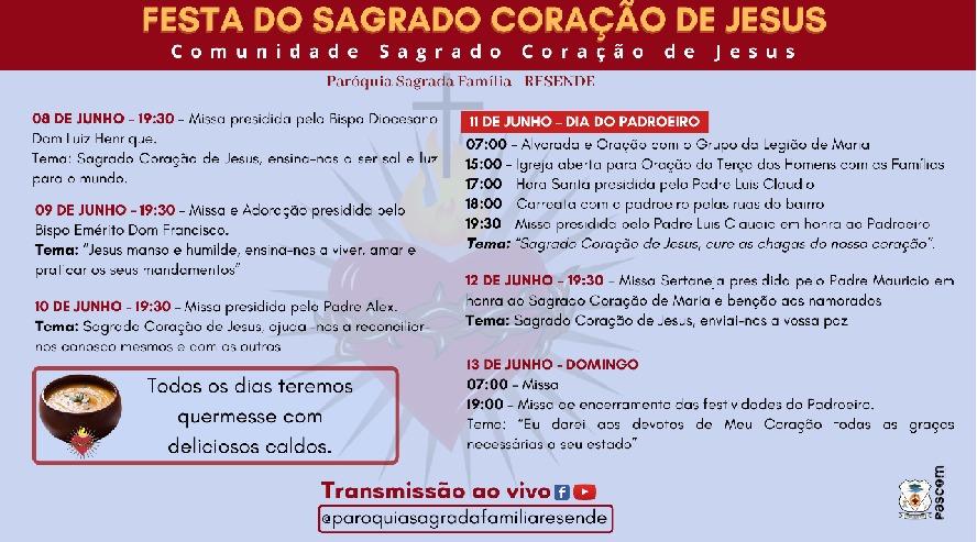 Festa do Sagrado Coração de Jesus 2021
