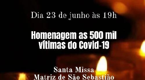 Paróquia São Sebastião- BM realiza missa pelas vítimas de Covid