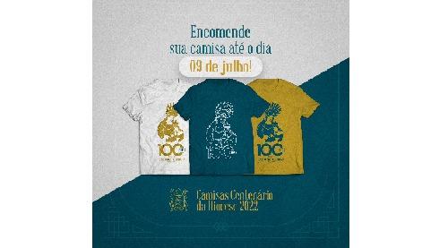 Encomenda das camisas do centenário vão até o dia 09 de julho