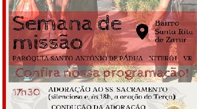 Começa a Semana de Missão na Paróquia Santo Antônio de Pádua