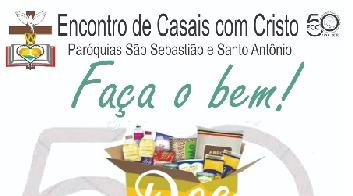Paróquias São Sebastião e Santo Antônio realizam campanha de alimentos para o Dia Nacional do ECC