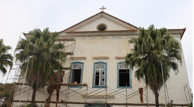 Restauração da Igreja Nossa Senhora do Amparo é intensificada