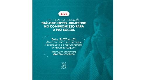 Pastoral da Educação promove live