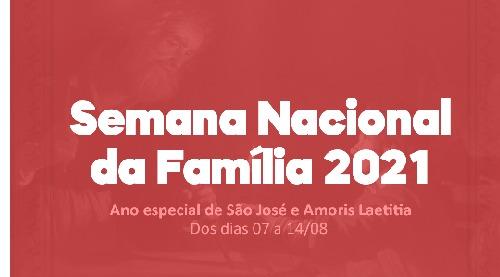 Semana Nacional da Família começa no dia 07