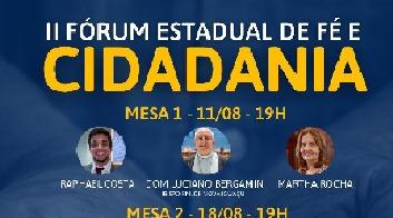 II Fórum de Fé e Cidadania está com inscrições abertas