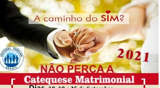 Inscrições para Catequese Matrimonial estão abertas na paróquia Santa Cruz-BM