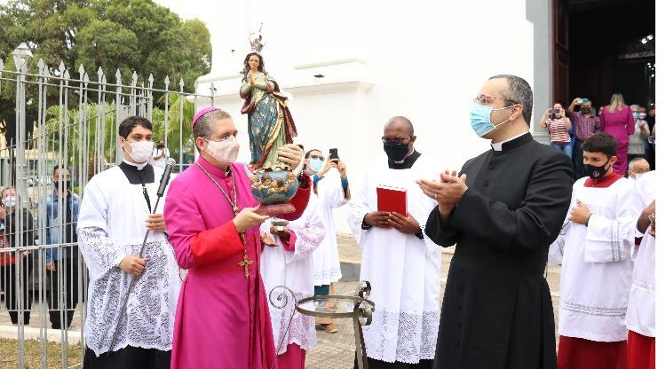 Reentronização da imagem da Imaculada Conceição acontece em Resende
