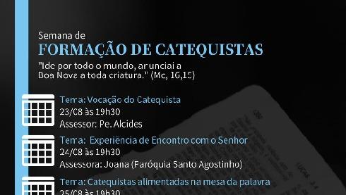 Paróquia São Paulo Apóstolo promove formação para catequistas