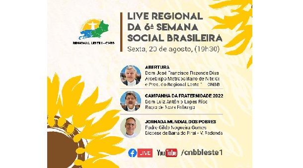Live regional da 6ª Semana Social Brasileira acontece na sexta-feira