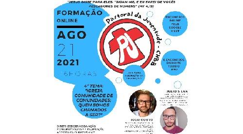PASTORAL DA JUVENTUDE REALIZA FORMAÇÃO ON-LINE