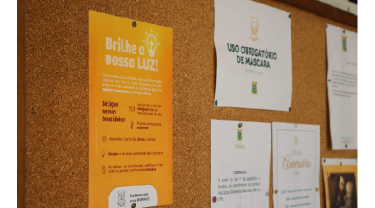 Cúria Diocesana promove campanha interna de redução de consumo de energia