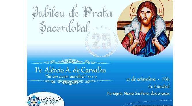 Padre Alércio celebra 25 anos de sacerdócio