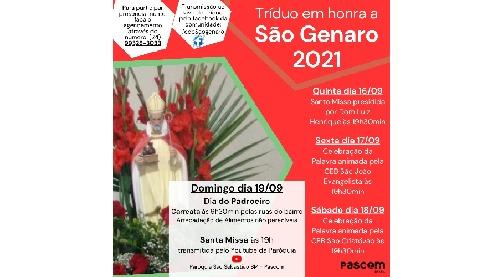 Comunidade São Genaro celebra dia do padroeiro