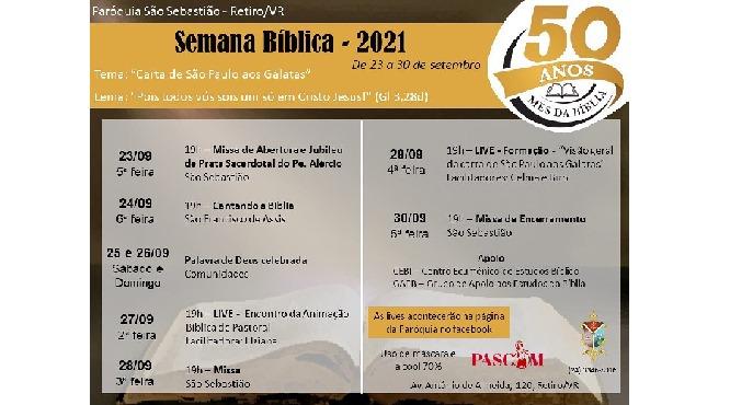 Paróquia São Sebastião-VR realiza Semana Bíblica