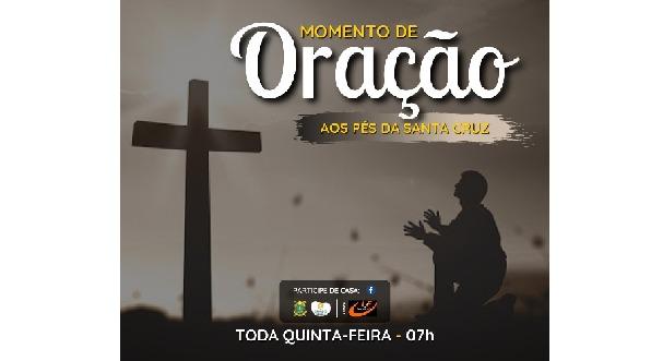 Paróquia Santa Cruz-BM promove momento de oração