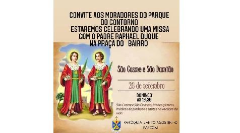 Comunidade São Cosme e São Damião realiza primeira missa