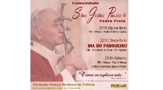 Comunidade São João Paulo II celebra padroeiro