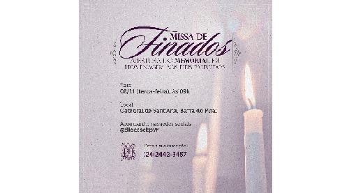 Missa de finados e abertura do memorial dos falecidos acontece na Catedral