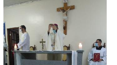 Bispo Diocesano celebra pela primeira vez na comunidade Bom Pastor, em Barra Mansa