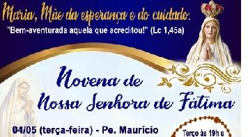 Paróquia Nossa Senhora de Fátima, em Resende, começa novena para padroeira